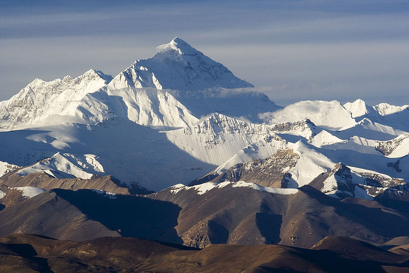 Climbing Everest is a pretty big feat, image by Lucag for Wikimedia